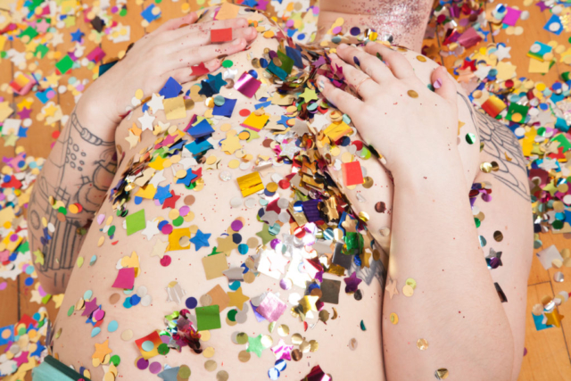 Glitter fun boudoir, colorful portraits