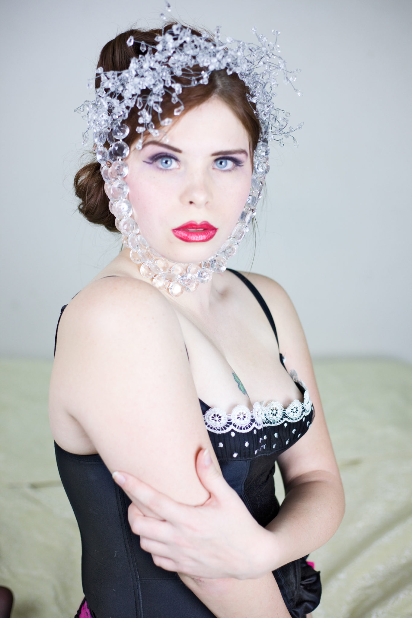 High fashion headpiece photography.