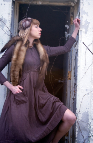 Abandoned building fashion editorial.