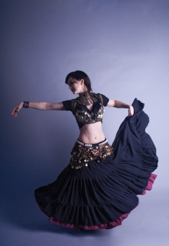 Belly dancer fashion.