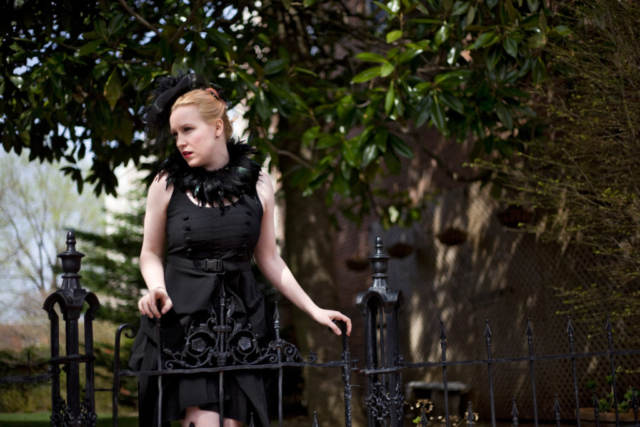 All black goth fashion editorial.